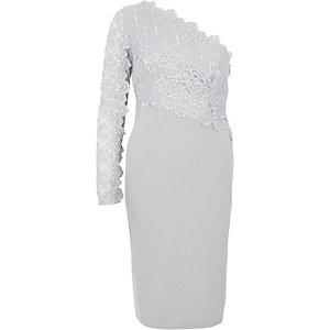 Bodycon-Kleid aus grauer Spitze