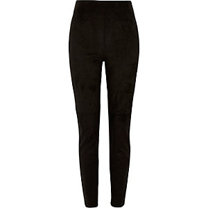 Black moleskin skinny pants