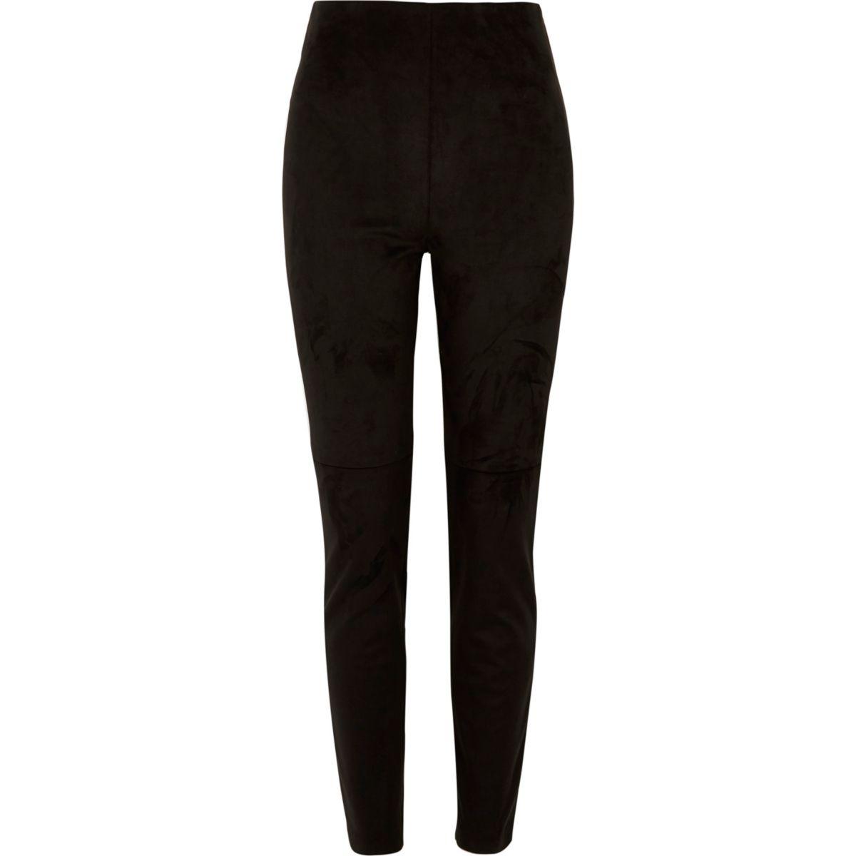 Black moleskin skinny pants