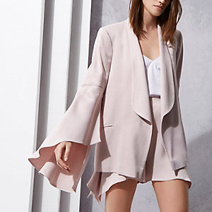 Light purple RI Studio frill sleeve blazer