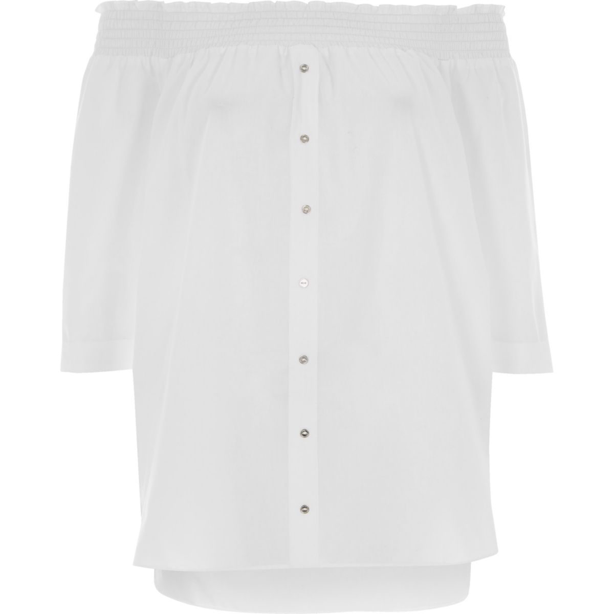 White long sleeve bardot shirt