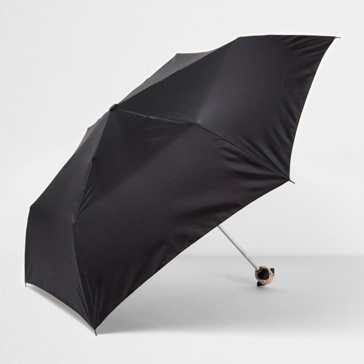 Black pug umbrella