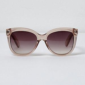 Große Sonnenbrille in Beige