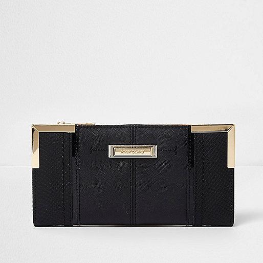 Black panel purse