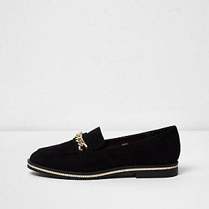 Schwarze Loafers