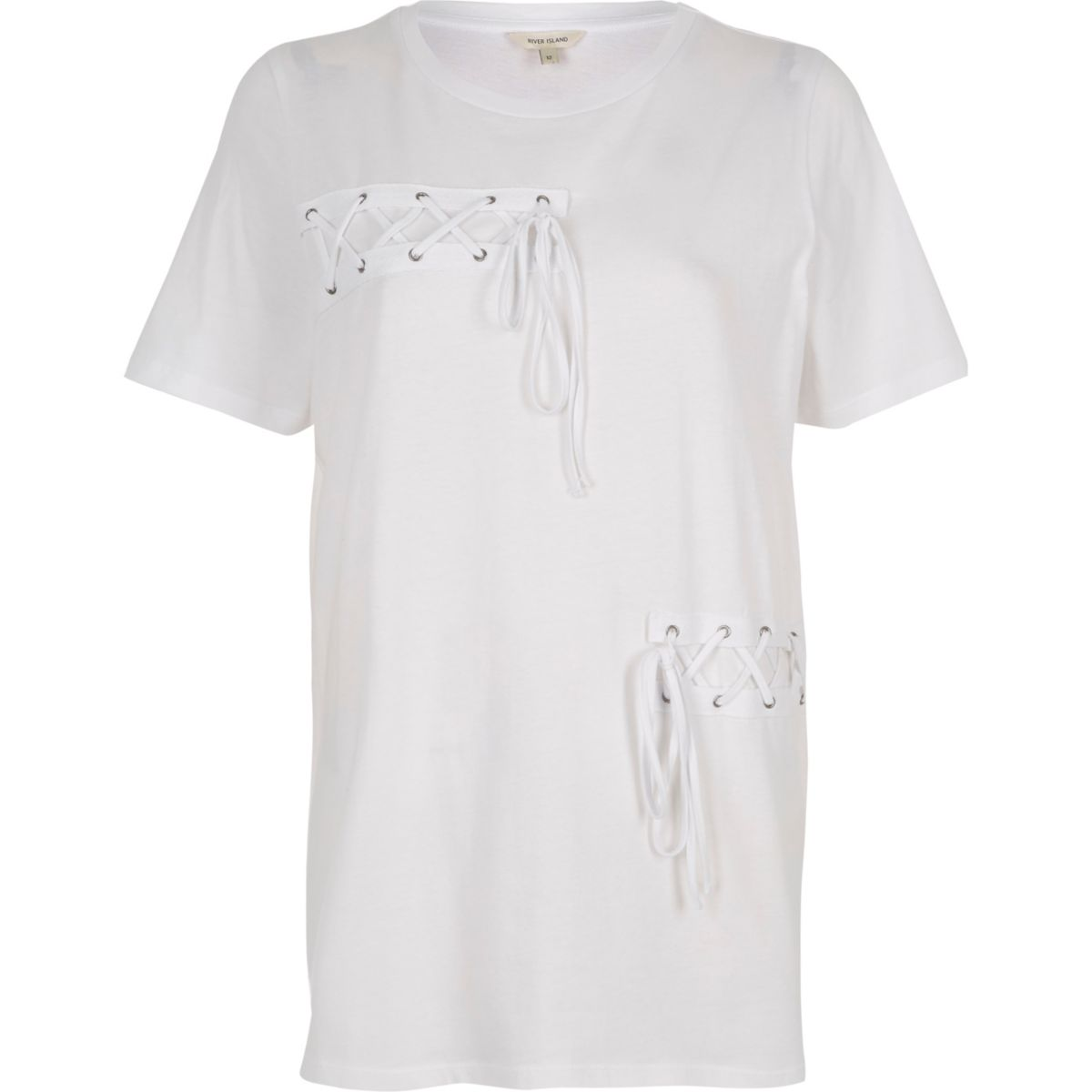 Weißes Boyfriend T-Shirt