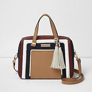 Hellbraune Tote Bag