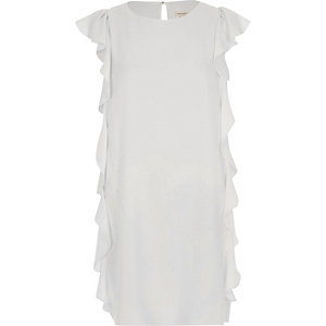 White side frill swing dress