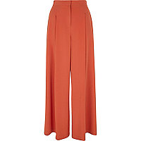 Rust orange wide leg pants