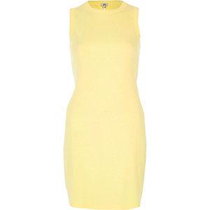 Gelbes Bodycon-Kleid mit Schnürung