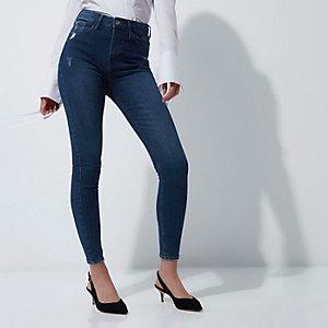 Harper – Blaue Skinny Jeans mit hohem Bund