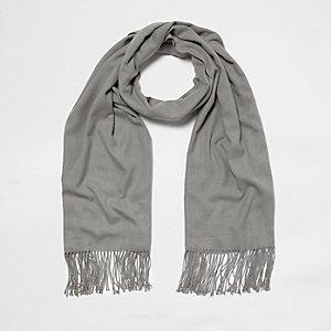 Écharpe façon couverture grise