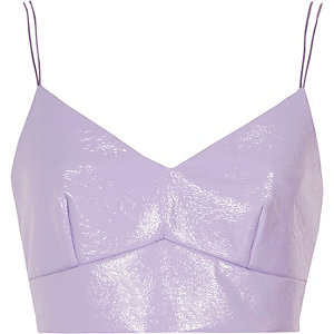 Light purple vinyl bralet