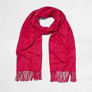 Écharpe façon couverture rose vif
