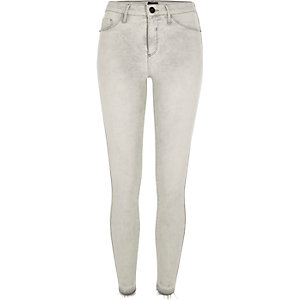 Light grey Molly released hem jeggings