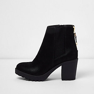 River Island Womens knit zip front shoe boots