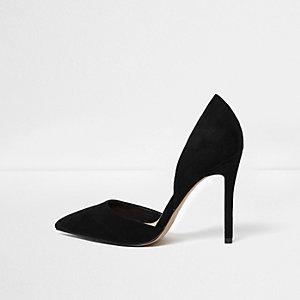 Black two part court shoes