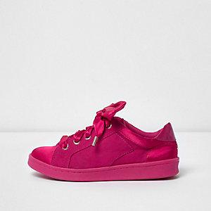 Sneaker in Hellrosa zum Schnüren