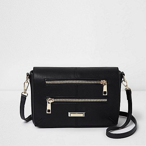 Schwarze Tasche mit Reißverschluss