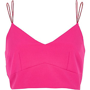 Pink cami bralette