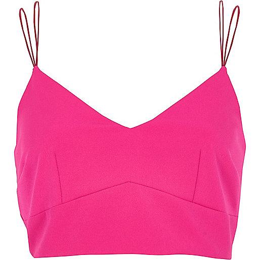 Pink cami bralet