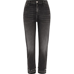 Black Bella released hem straight leg jeans