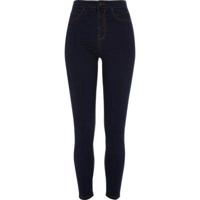 Molly Donkerblauwe jegging met hoge taille