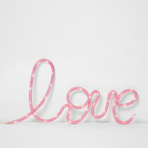 Pink 'love' neon light