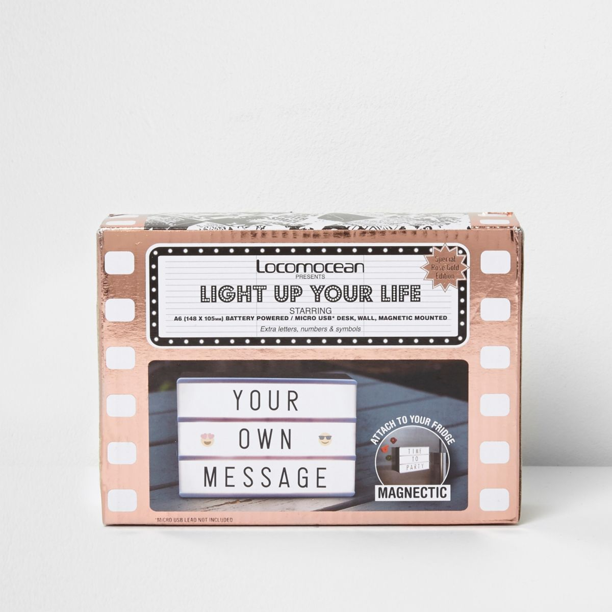 Rose gold tone A6 light box