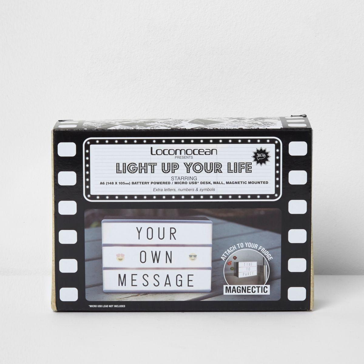 Black A6 light box