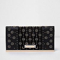Zwarte portemonnee met studs en tasje