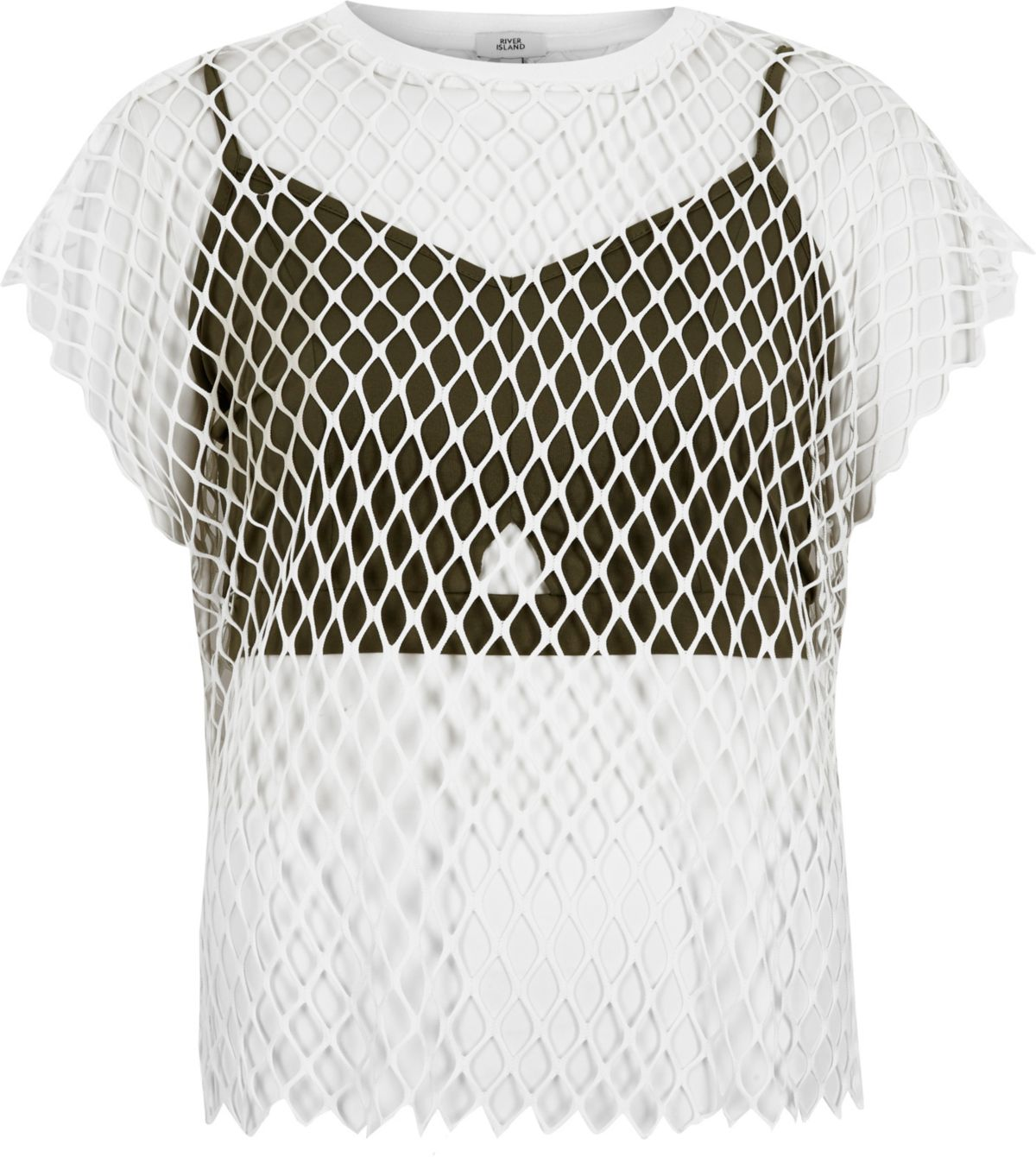 White mesh bralette T-shirt
