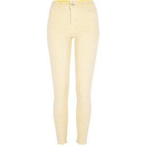 Light yellow Molly released hem jeggings