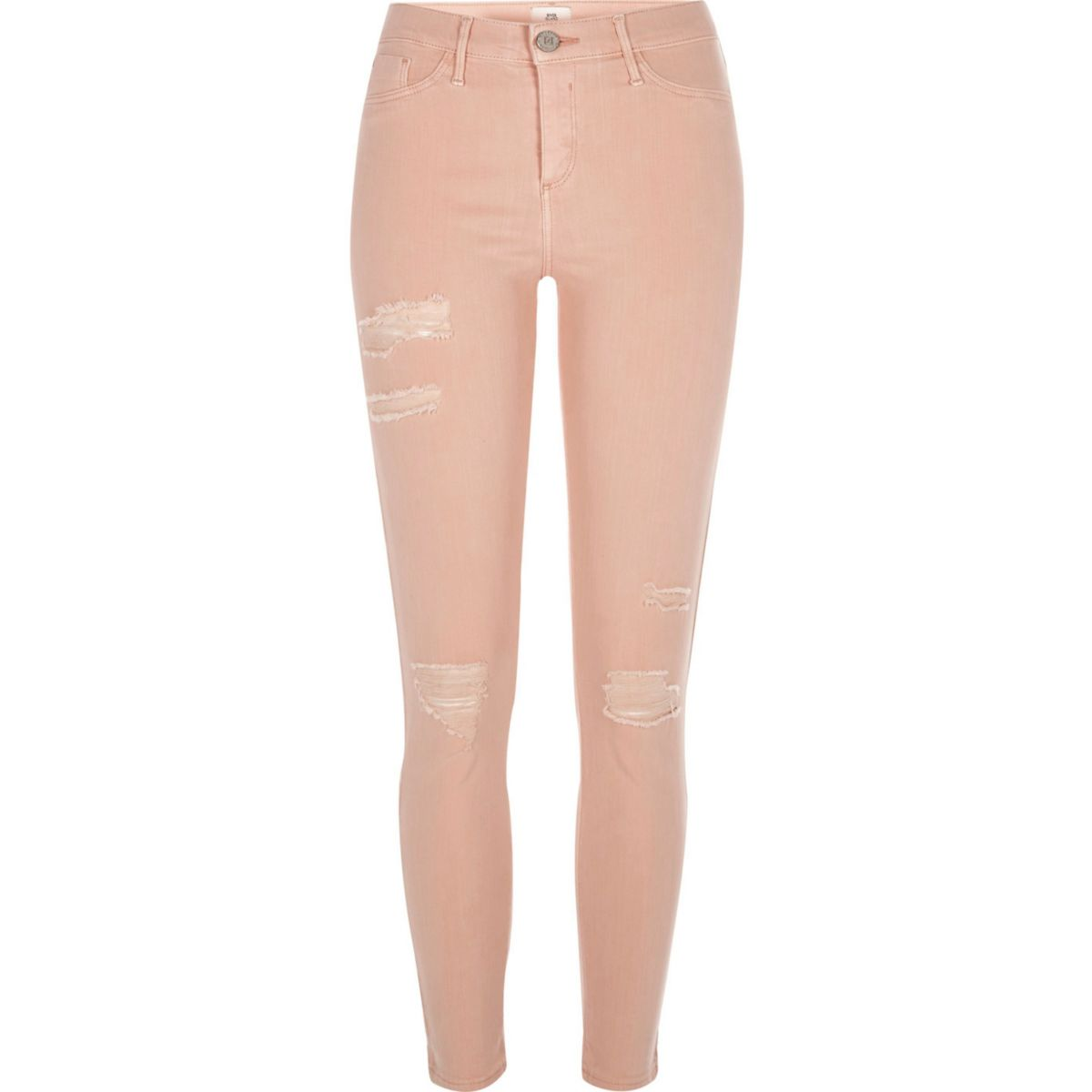 Orange Molly ripped skinny jeggings