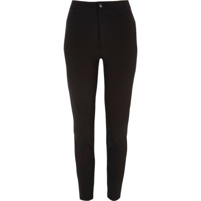 Molly Zwarte skinny broek met hoge taille