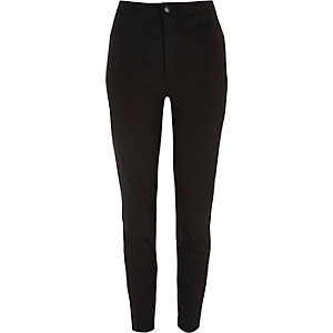 Black high rise Molly skinny pants
