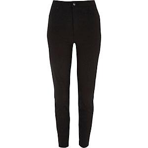 Molly - Zwarte skinny broek met hoge taille