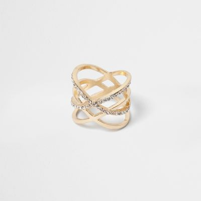 Goudkleurige dubbele ring