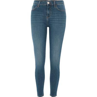Amelie Middenblauwe superskinny jeans