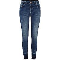 Blue Amelie released hem super skinny jeans