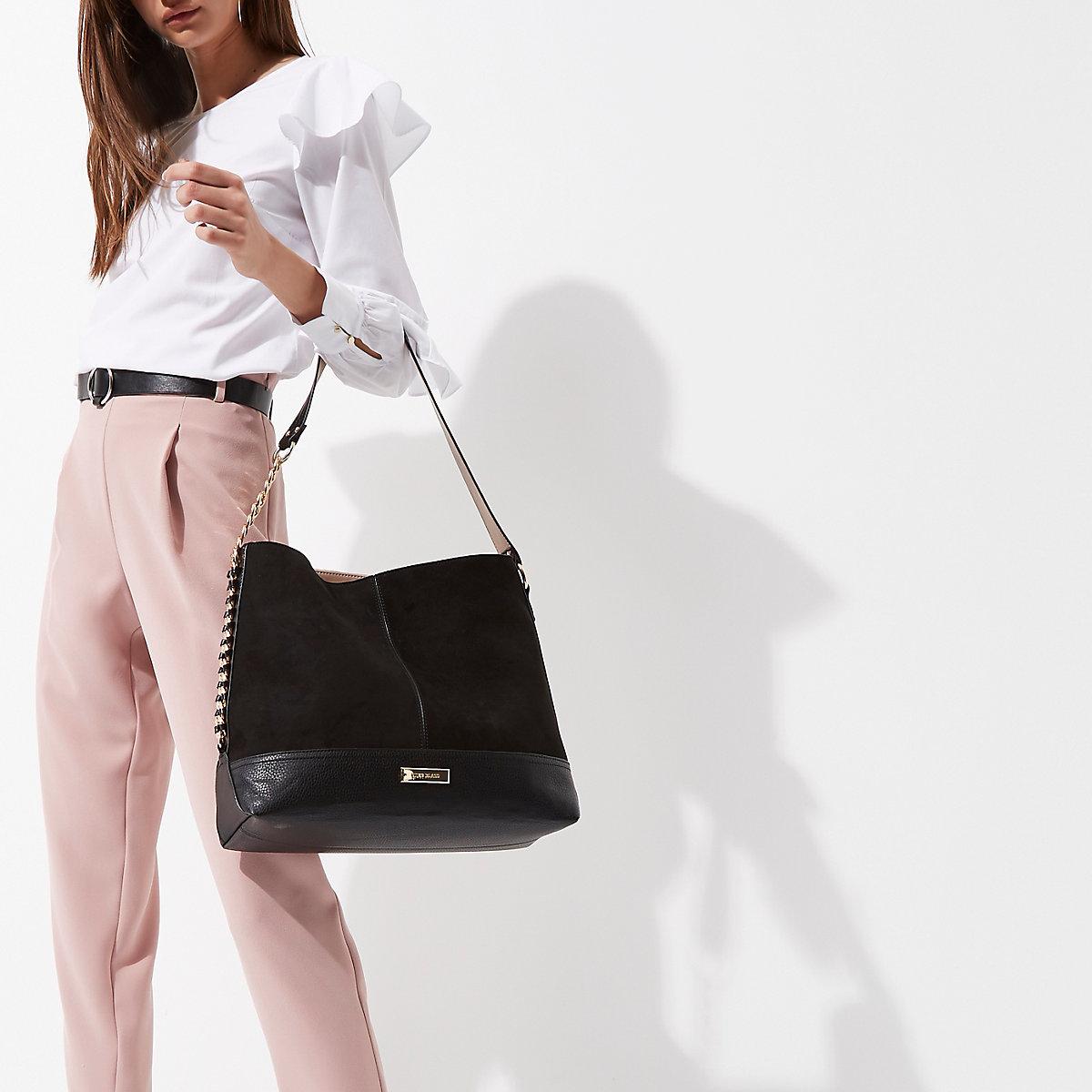 Black chain side slouch bag - Shopper   Tote Bags - Bags   Purses ... 879bcb31d298e