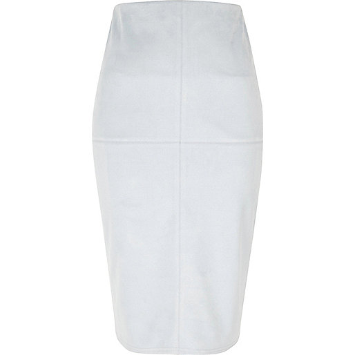 light blue faux suede pencil skirt skirts sale women
