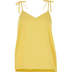 Yellow bow cami top