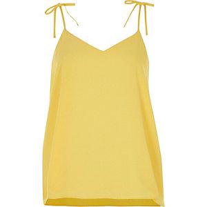 Caraco jaune avec nœud