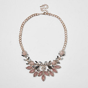 Statement-Kette in Roségold