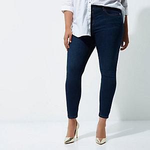 Plus – Amelie – Dunkelblaue Superskinny Jeans
