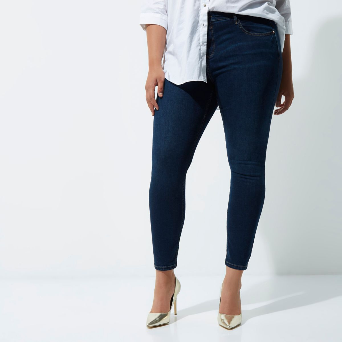 Plus dark blue Amelie super skinny jeans