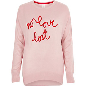 "Pinker Strickpullover ""No Love Lost"""
