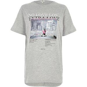 "Graues Boyfriend T-Shirt ""No Love Lost"""