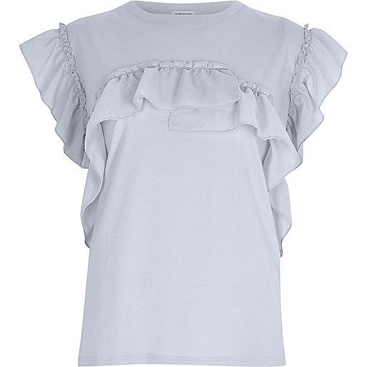 Light blue frill t-shirt